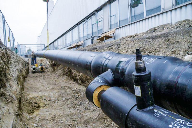 Rohrleitungsbau Fernwärme Mindelheim mit AGFW-Zetrifikat